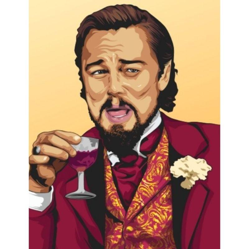Laughing Leo Django Meme Poster