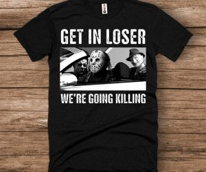 Horror Icons Halloween Shirt – Chill with Michael Myers , Jason, and Freddy Krueger in this Halloween Shirt!