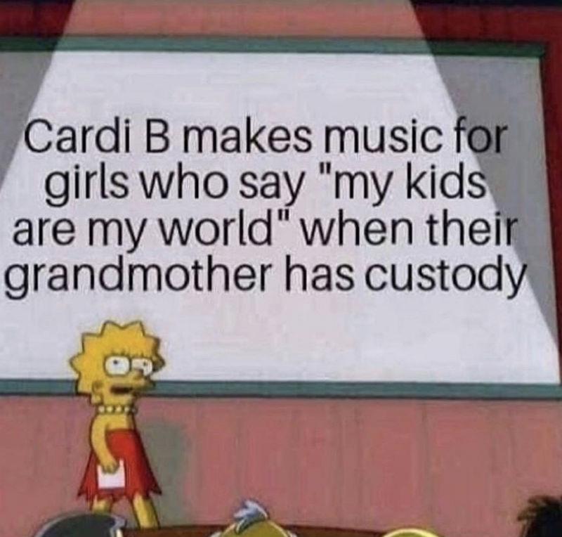 cardi b makes music