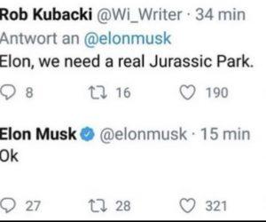 Elon We Need A Real Jurassic Park – Meme