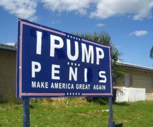 I Pump Penis Trump Yard Sign – Meme