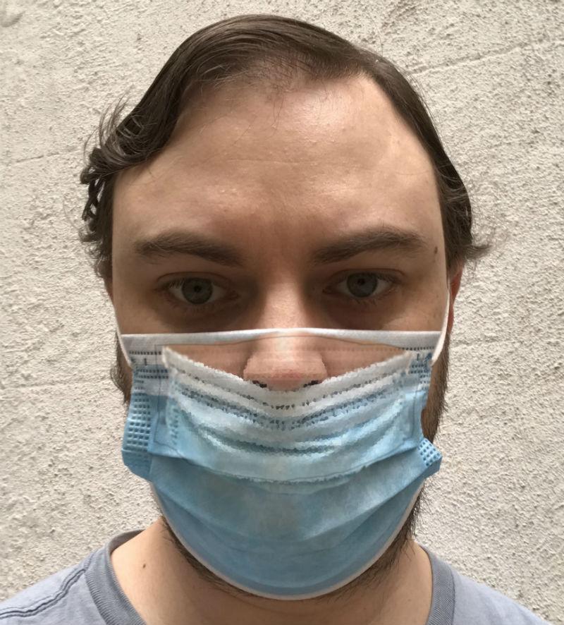 idiot nose face mask