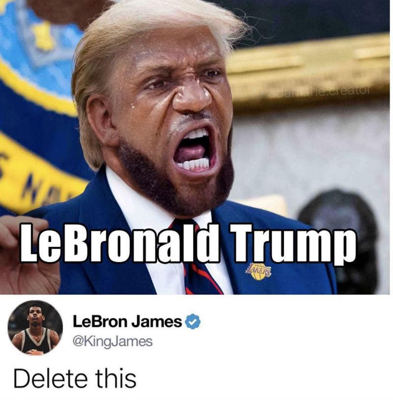 lebronald trump meme