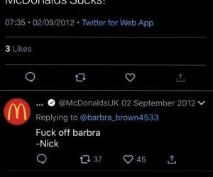 McDonalds Sucks! – Barbra Meme – Fuck off Barbra – Nick