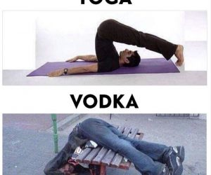 Yoga Vs Vodka – Meme
