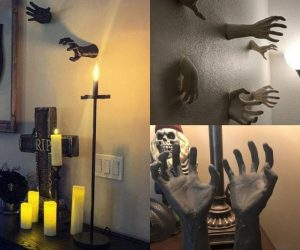 Wall Mounted Creepy Halloween Hands – These scary reaching hands! Need a hand?