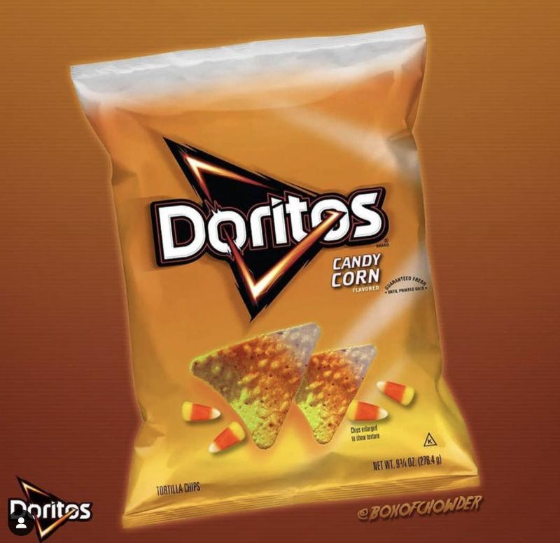 candy corn doritos