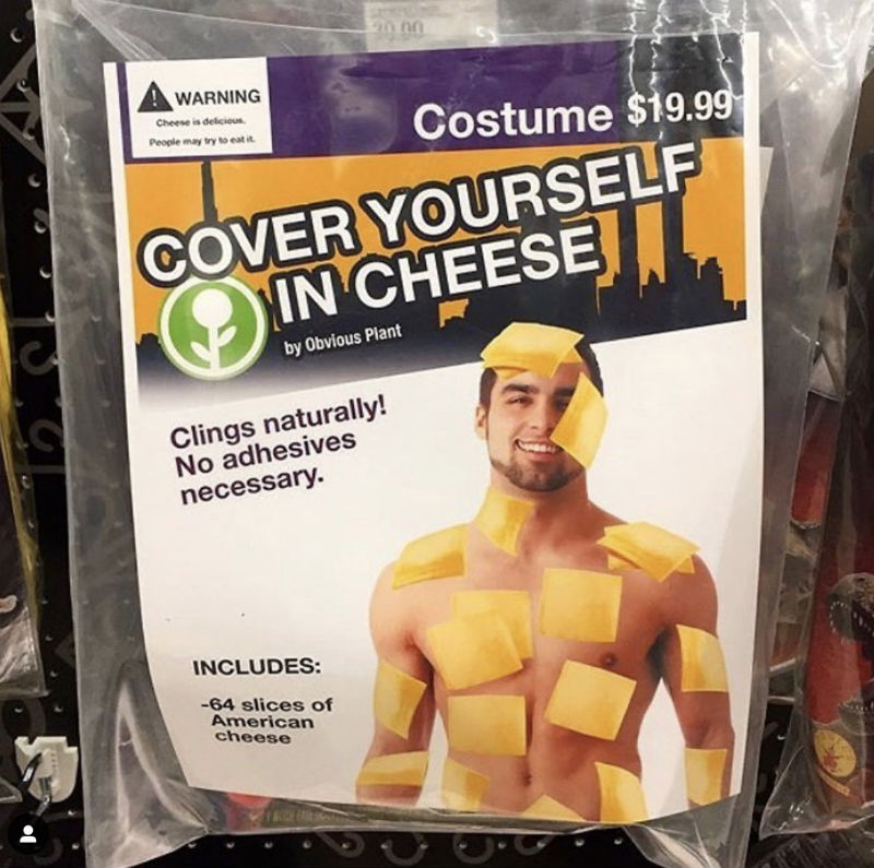 cover yourself in cheese