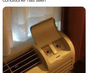 I Can't Even Imagine What This Hotel Air Conditioner Has Seen – Meme