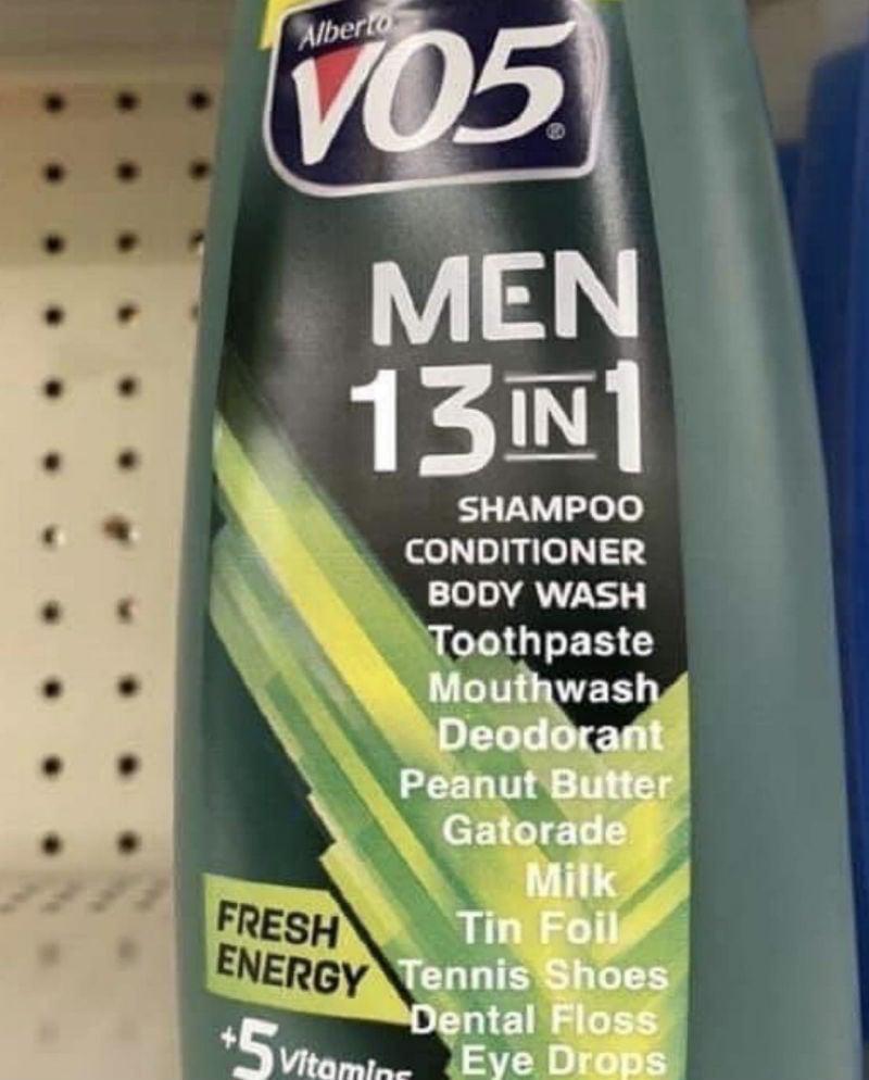 men 13 in 1 shampoo