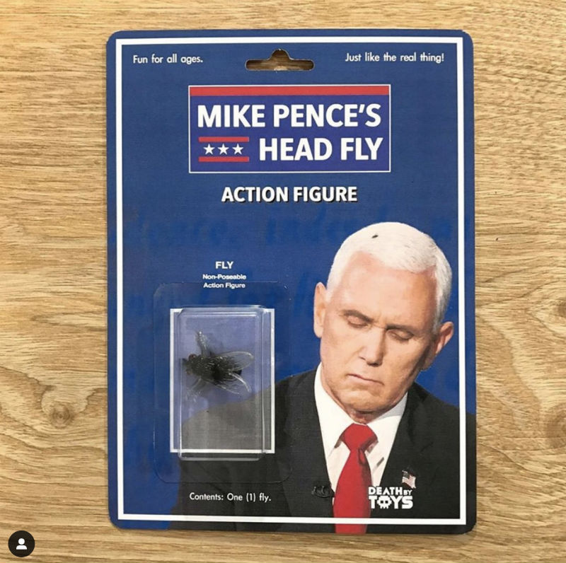 Mike Pence's Head Fly Action Figure - Meme - Shut Up And Take My Money