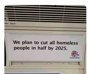 We plan to cut all homeless people in half by 2025 – meme