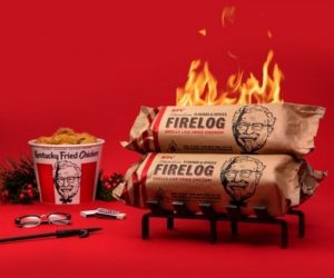 KFC Fire Log –KFC Just Released A Fireplace Log That Smells Exactly Like Fried Chicken!