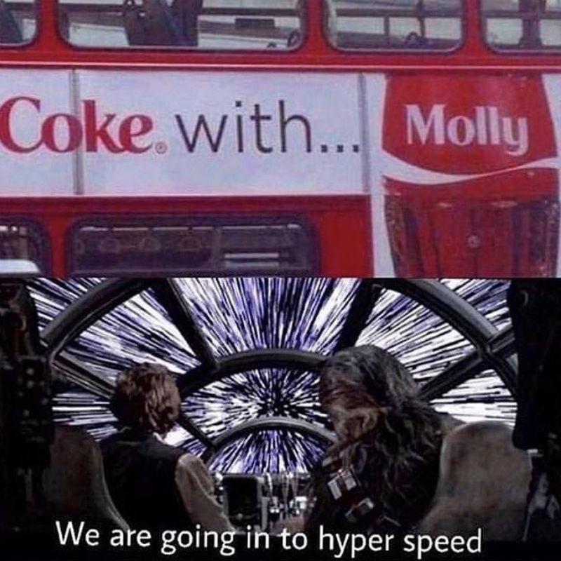 coke with molly meme