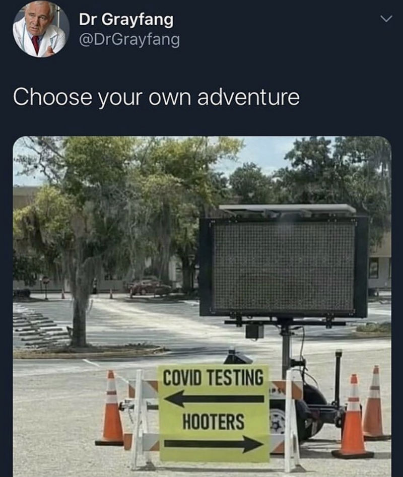 covid testing or hooters