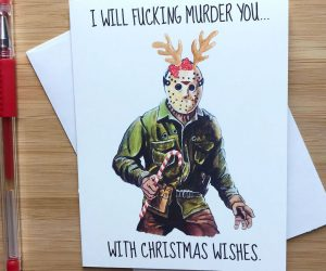 Friday The 13th Jason Christmas Card –Funny and festive, the perfect Christmas card for that Jason / Horror moviefan in your life!