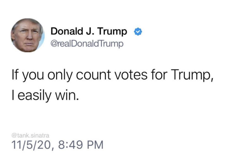 if you only count votes for trump