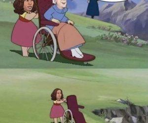 Kamala Pushing Biden Out Of Wheelchair – Meme
