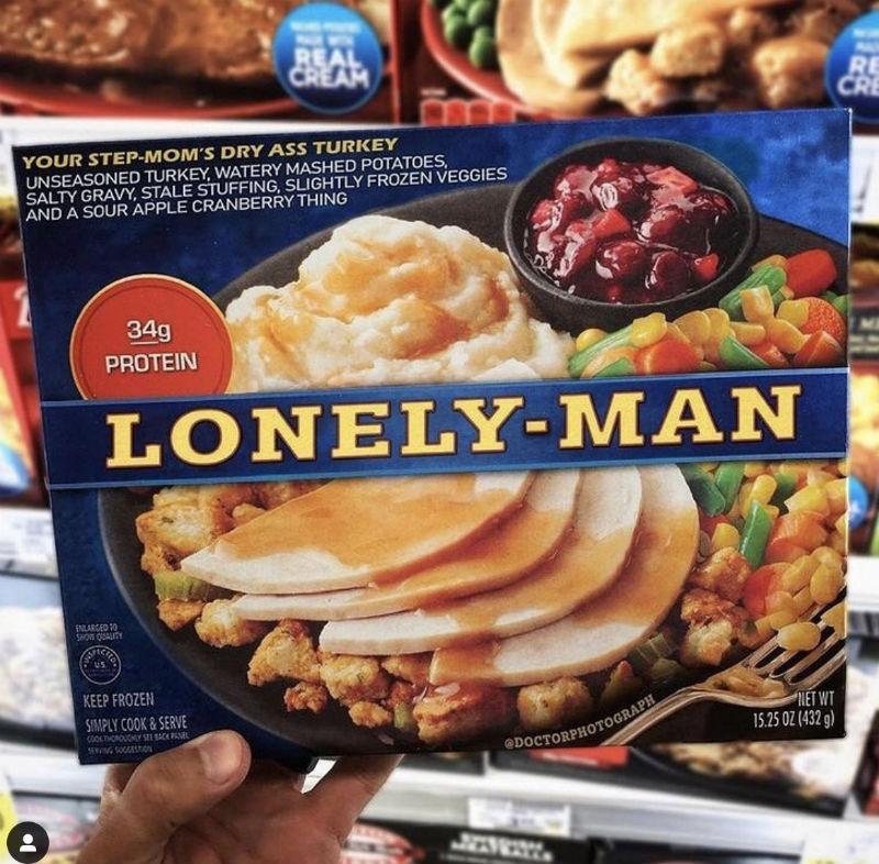 lonely man thanksgiving dinner