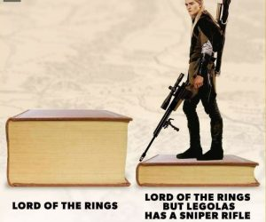 Lord Of The Rings But Legolas Has A Sniper Rifle – Meme