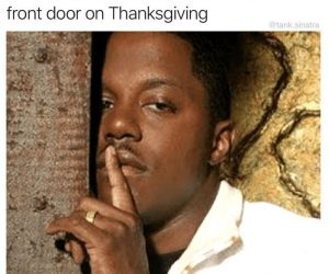 Me Letting My 11th Relative Through The Door On Thanksgiving – Meme