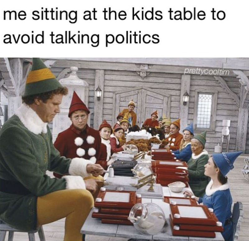 me sitting at the kids table