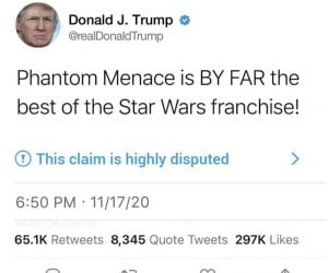 Trump Phantom Menace Tweet – Meme