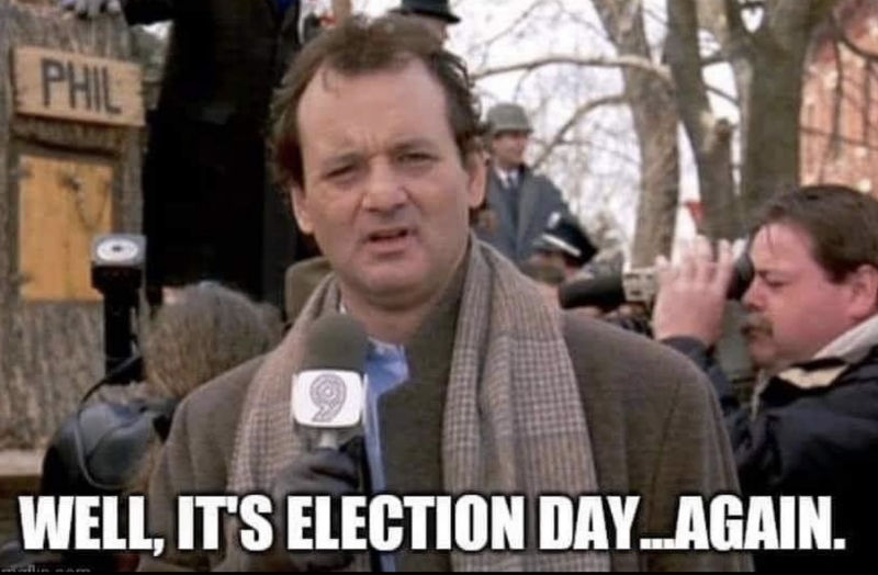 well its election day again