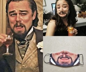 Laughing Leo Meme Face Mask – This Django Unchained inspired face mask is the perfect meme mask ever made!