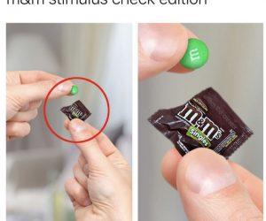 M&M Stimulus Check Edition – Meme