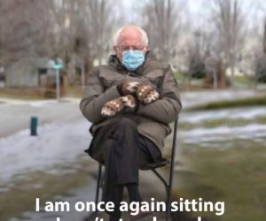 Bernie Sanders Sitting Mittens Meme – Cuz I Can't Stand You Hoes