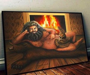 Naked Hagrid Poster – Open your Gryffindor so Hagrid can Slytherin!