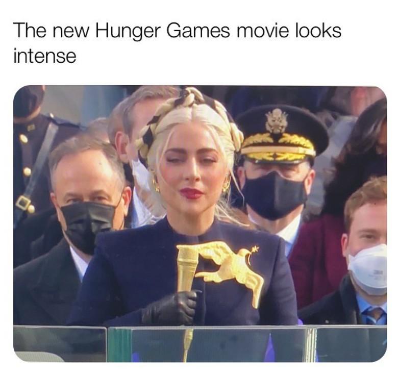 the new hunger games looks intense lady gaga meme