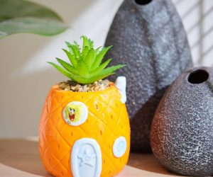 SpongeBob House Planter – Now SpongeBob can live in a pineapple right on your desk!