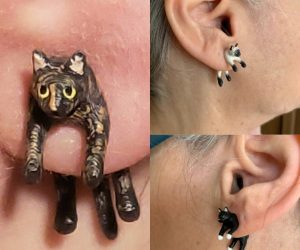 Hand Painted Cat Earrings – The purrrfect earrings for cat lovers!