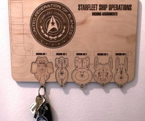 Star Trek Federation Key Holder – Never lose the keys to your starship again with this Star Trek Federation Key Holder!