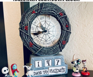 The Nightmare Before Christmas Halloween Countdown Clock –Just like in Halloween Town, you can have your own Countdown to Halloween Clock! This table clock helps you count the day 'til