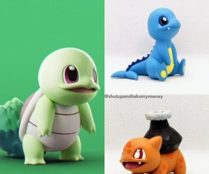 Type-Swapped Pokemon –What if the classic Pokemon belongs to a different type? This cute 3D-printed Pokemon is a great gift to any Pokemon fans!