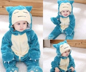 Snorlax Baby Onesie – Turn your toddler into a Pokemon with this cute Snorlax Baby Onesie!