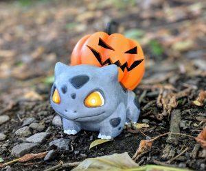 Bulbasaur Jack-O-Lantern –Pumpkasaur, the Bulbasaur variant that inexplicably appears in pumpkin patches every autumn!