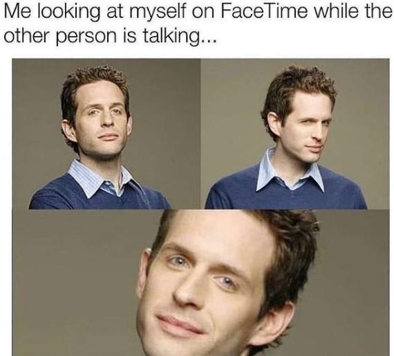 me looking at myself on facetime