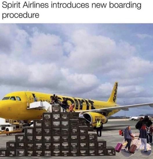 spirit airlines milk crate challenge meme